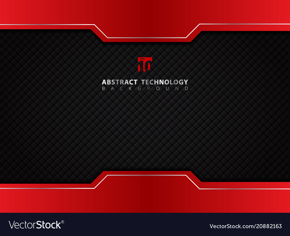 Template red and black contrast abstract vector image