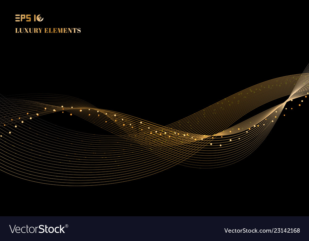 Abstract shiny color sparkling gold wave design