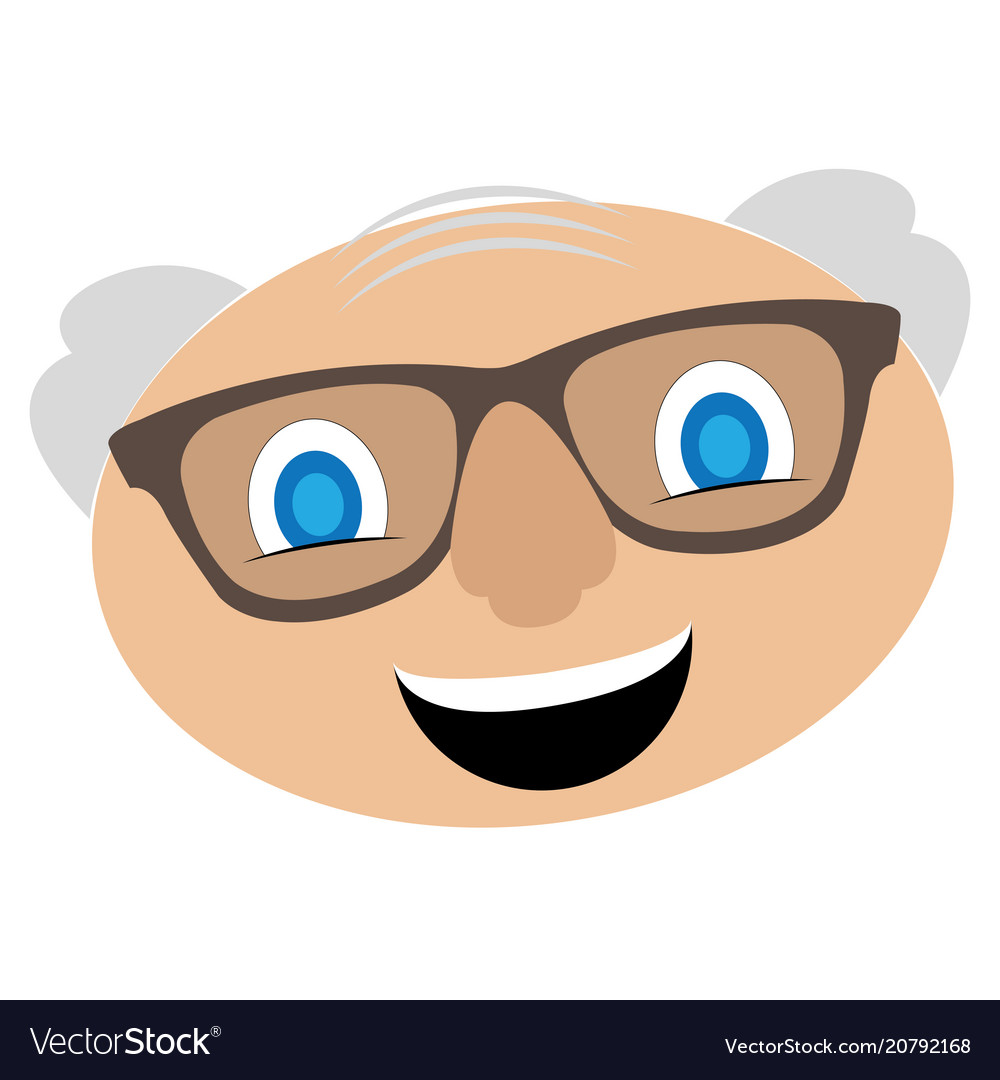 Avatar of a grandfather vector image