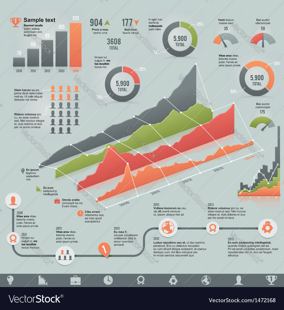 Business related infographic elements