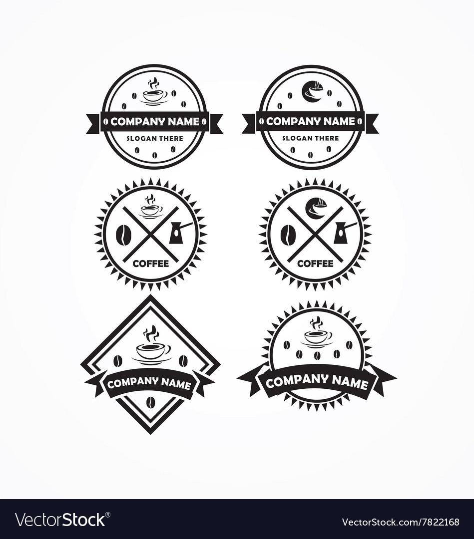 Coffee bundle logo vector image