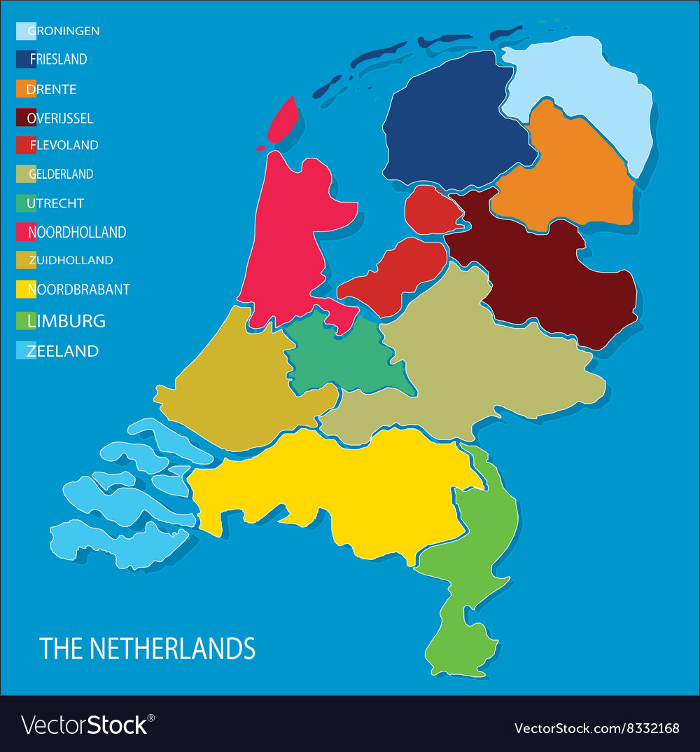 Country map of the netherlands