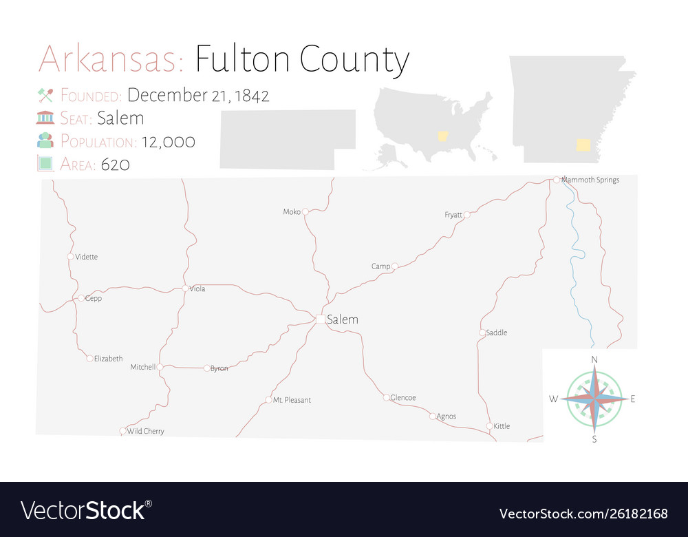 Map fulton county in arkansas