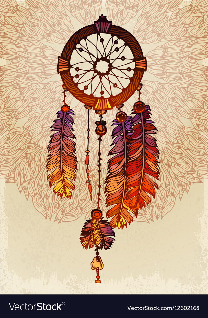 Native American Indian Traditional Dream Catcher Vector Image Interesting How To Make Authentic Dream Catchers