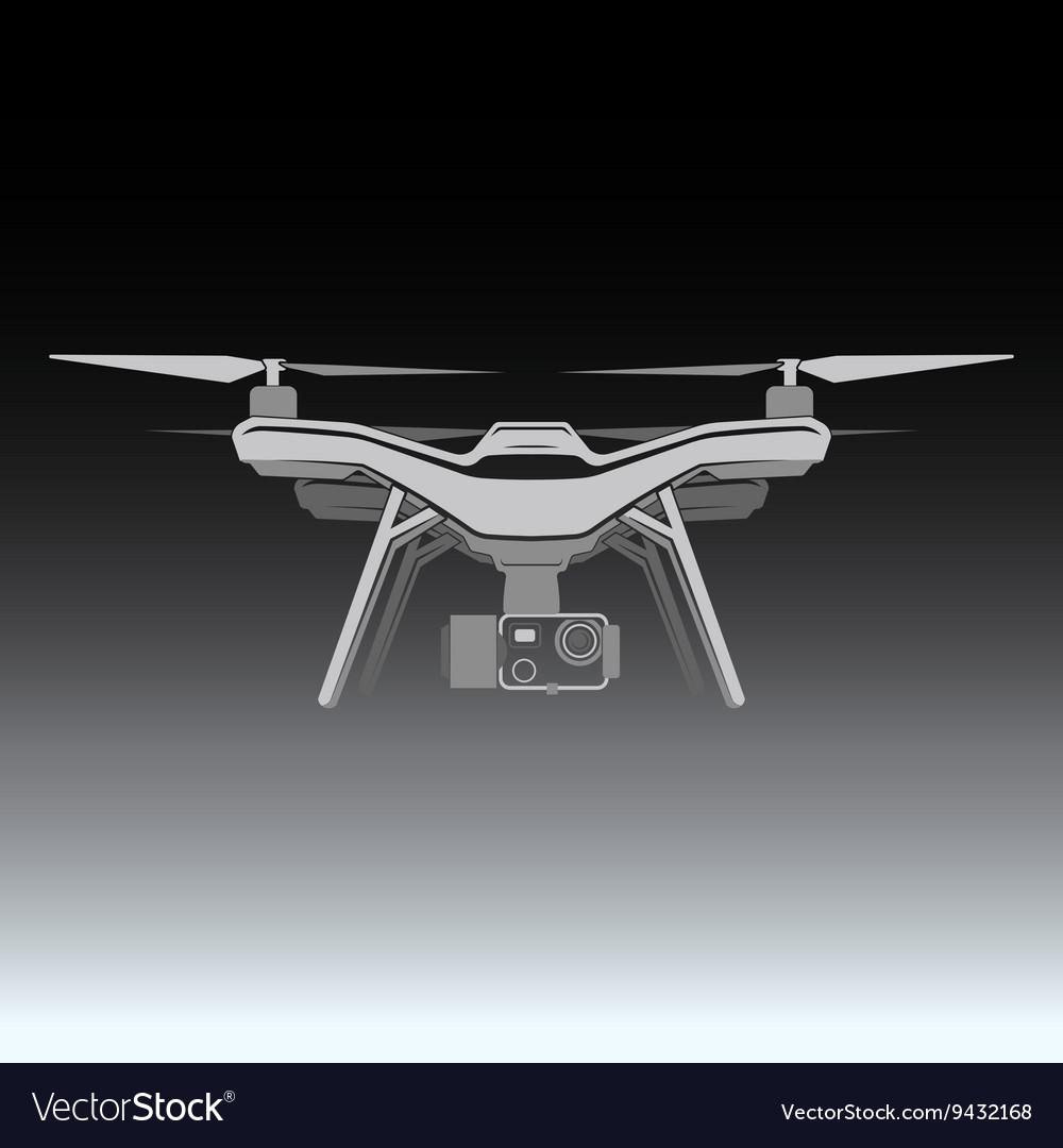Quadrocopter drone radio fly camera vector image