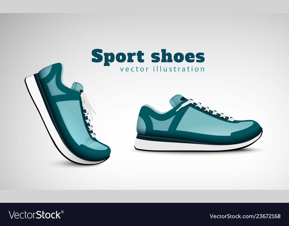 Sport shoes realistic composition