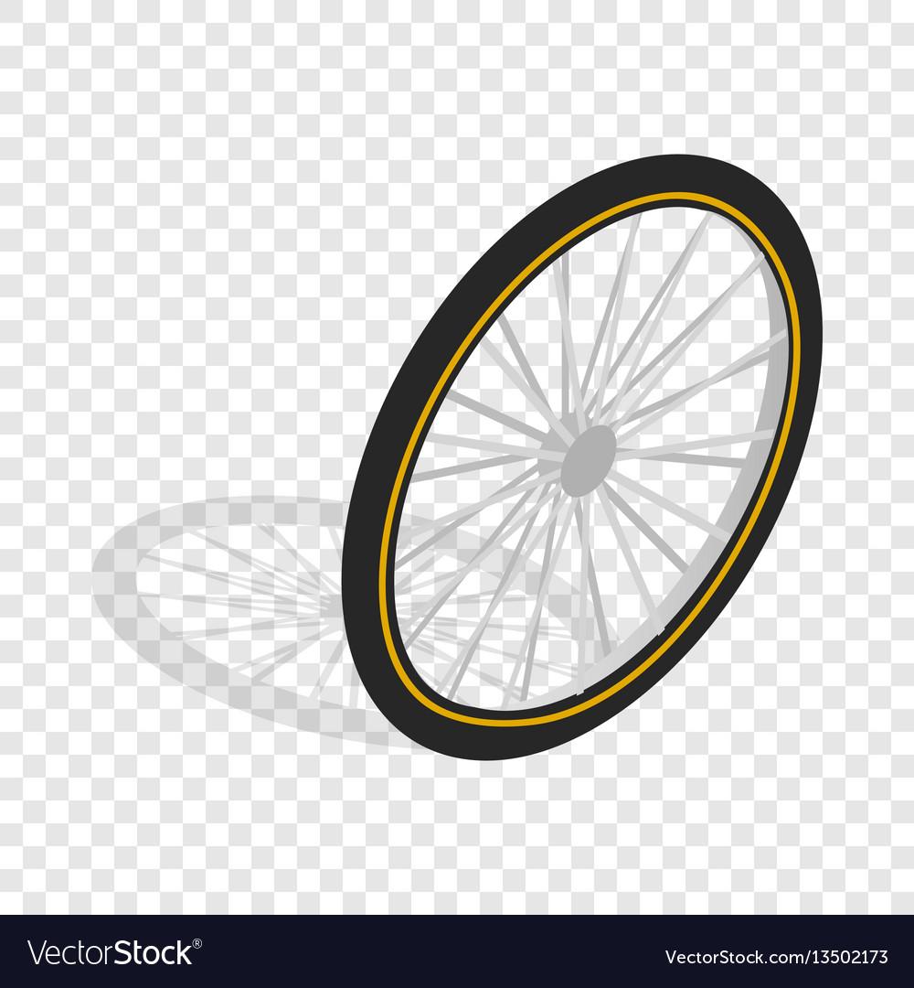 Bicycle whee isometric icon