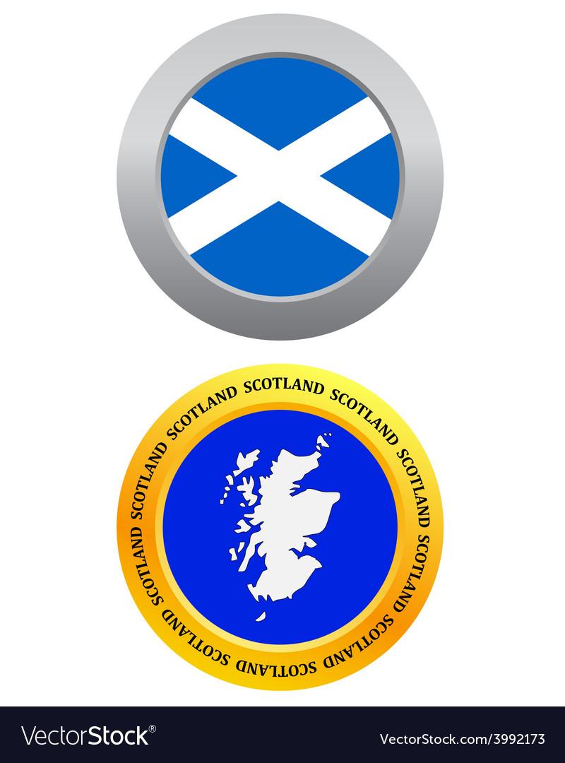 Button as a symbol map SCOTLAND vector image