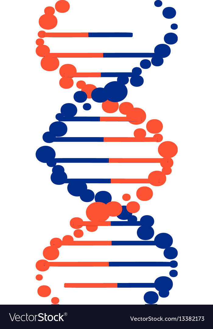 Dna molecule sign genetic elements and icons