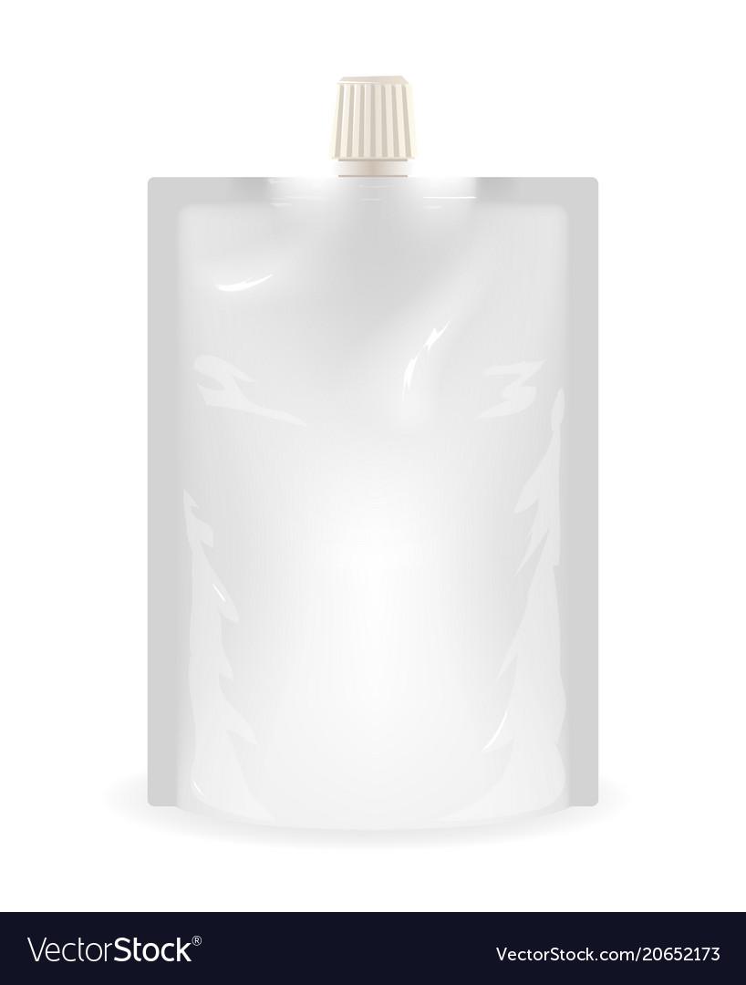Isolated doypack liquid sealed plastic sachet food