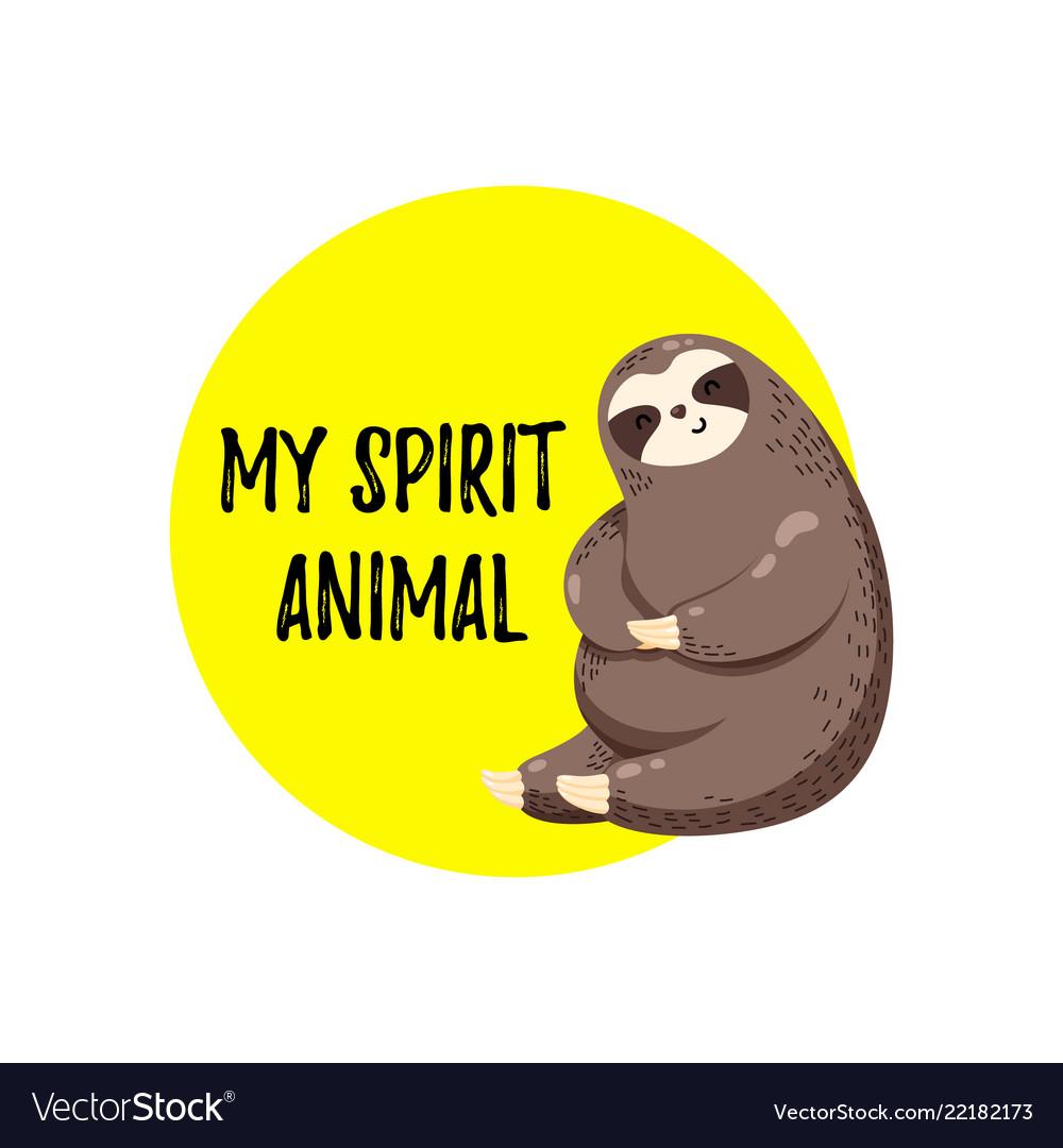 Lovely cartoon sloth logo