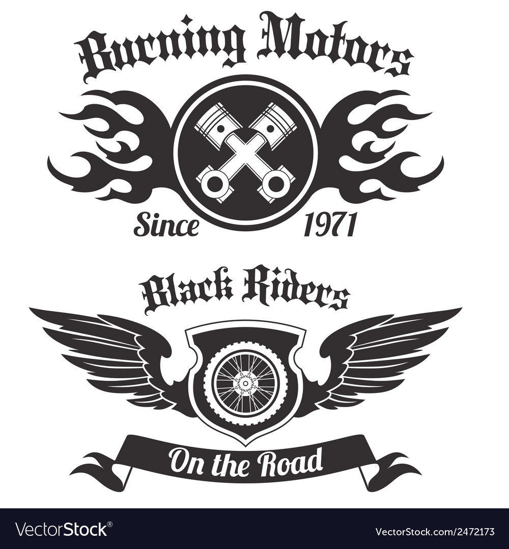Motorcycle label black