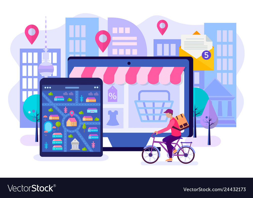 Online shopping fast delivery by courier