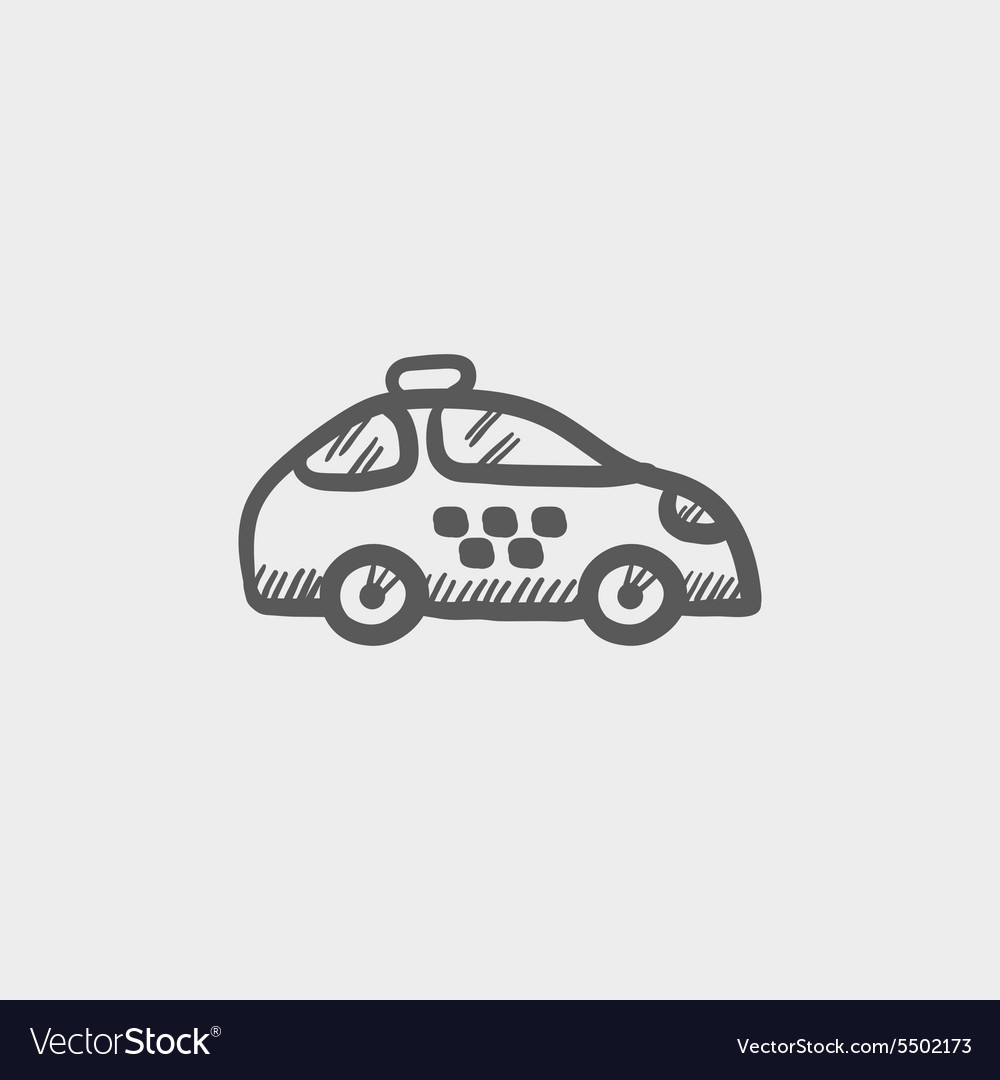 Police car sketch icon