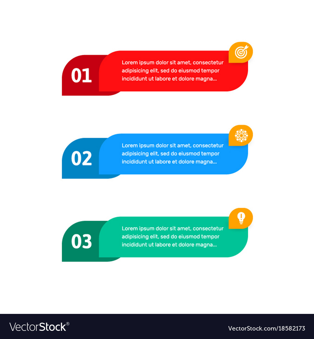 Steps elements for web interface infograph
