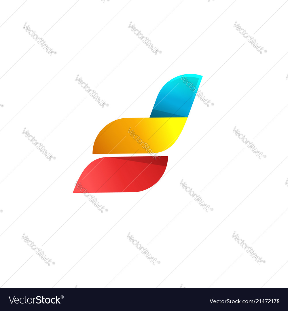 Abstract logo design idea or wings or