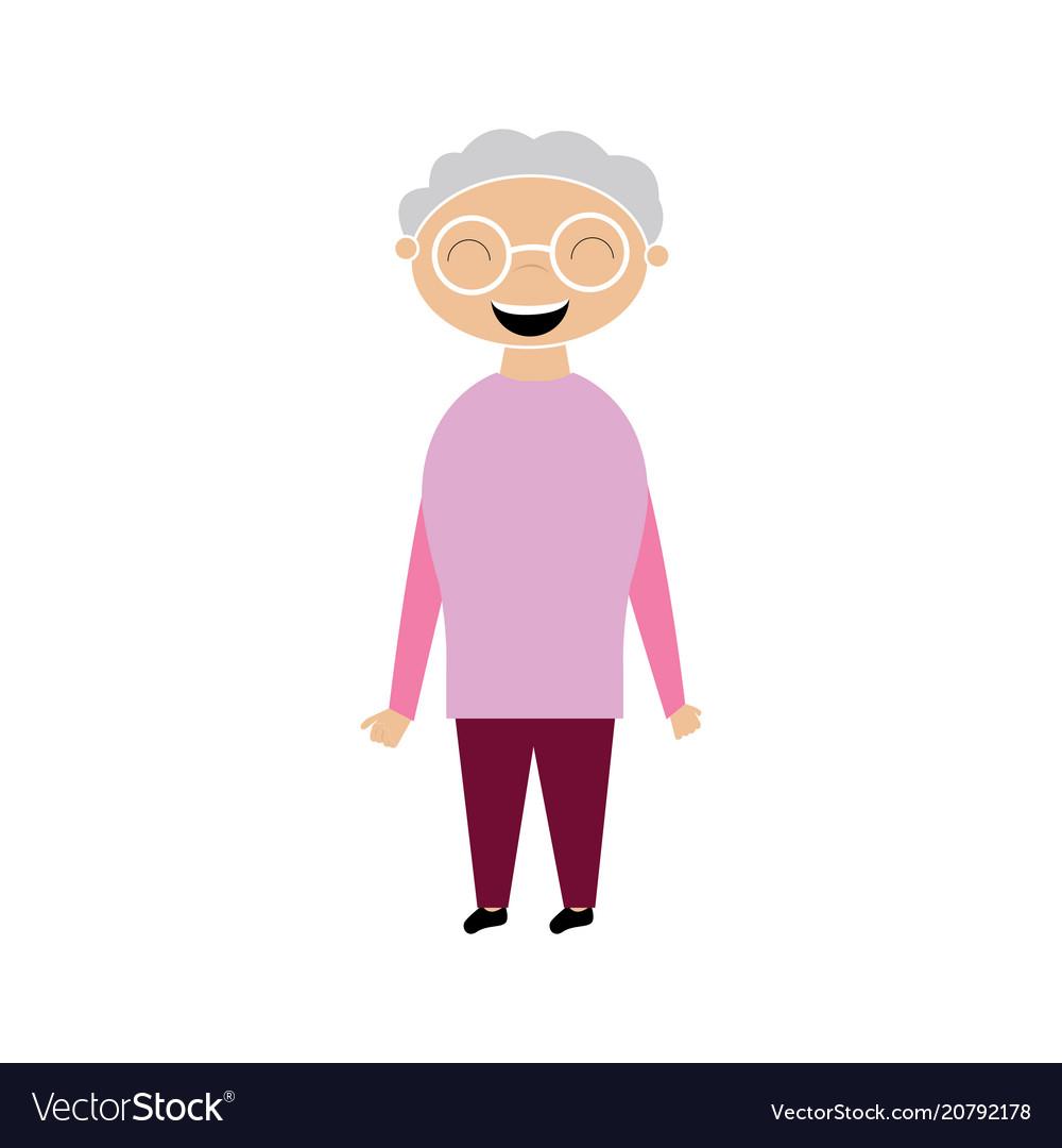 Cartoon of a grandmother