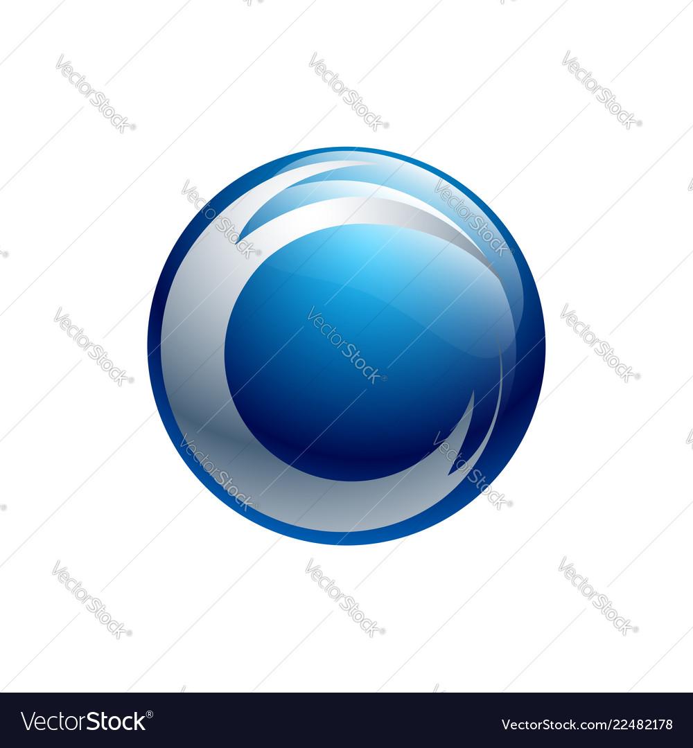 Creative abstract 3d sphere logo design template