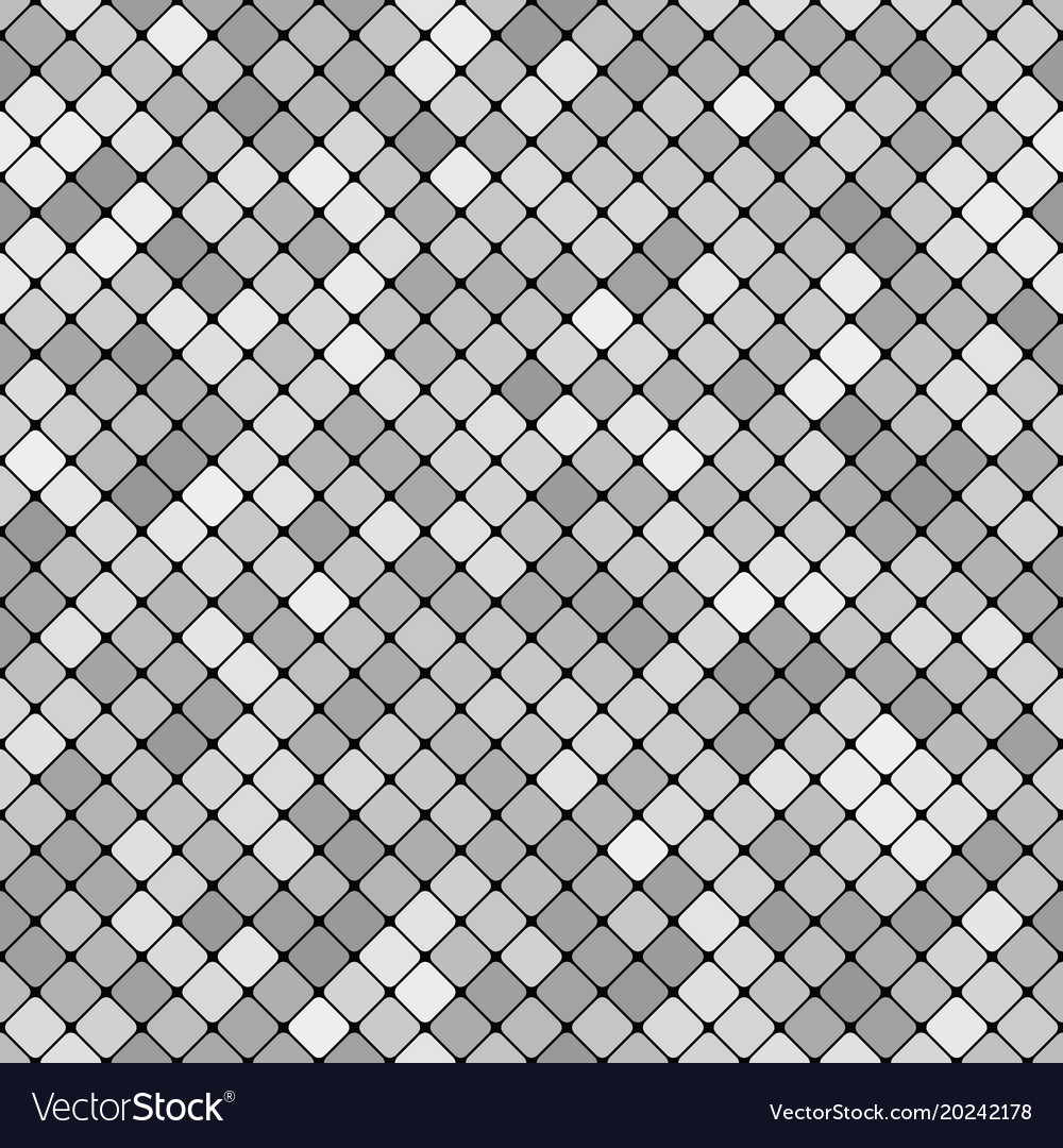 Grey abstract repeating diagonal square pattern
