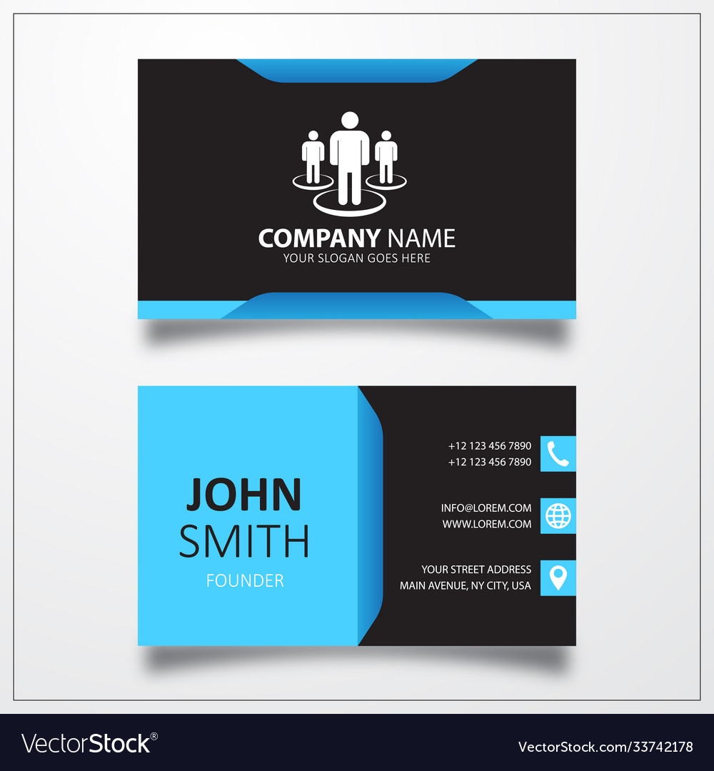 Group meet people icon business card template