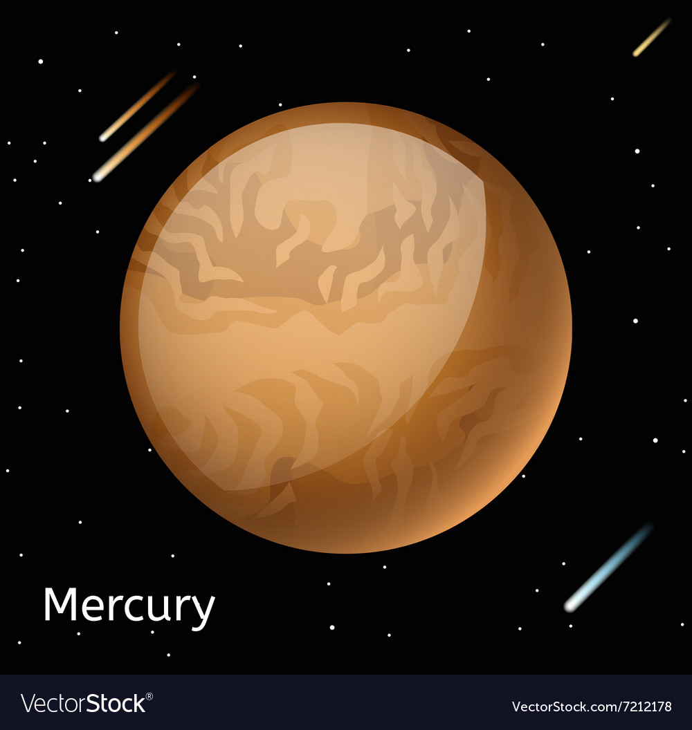 Mercury planet 3d vector image