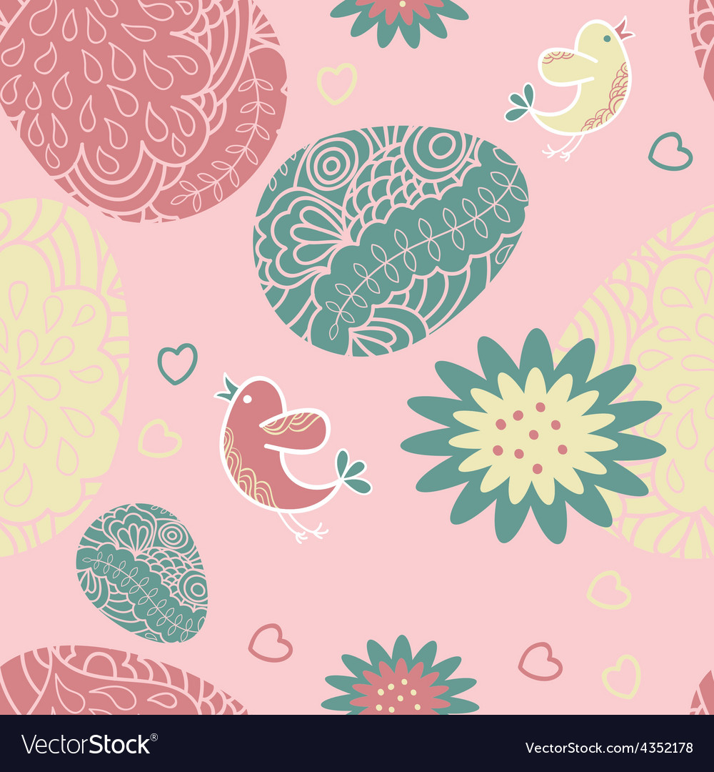 Seamless pattern with easter egg