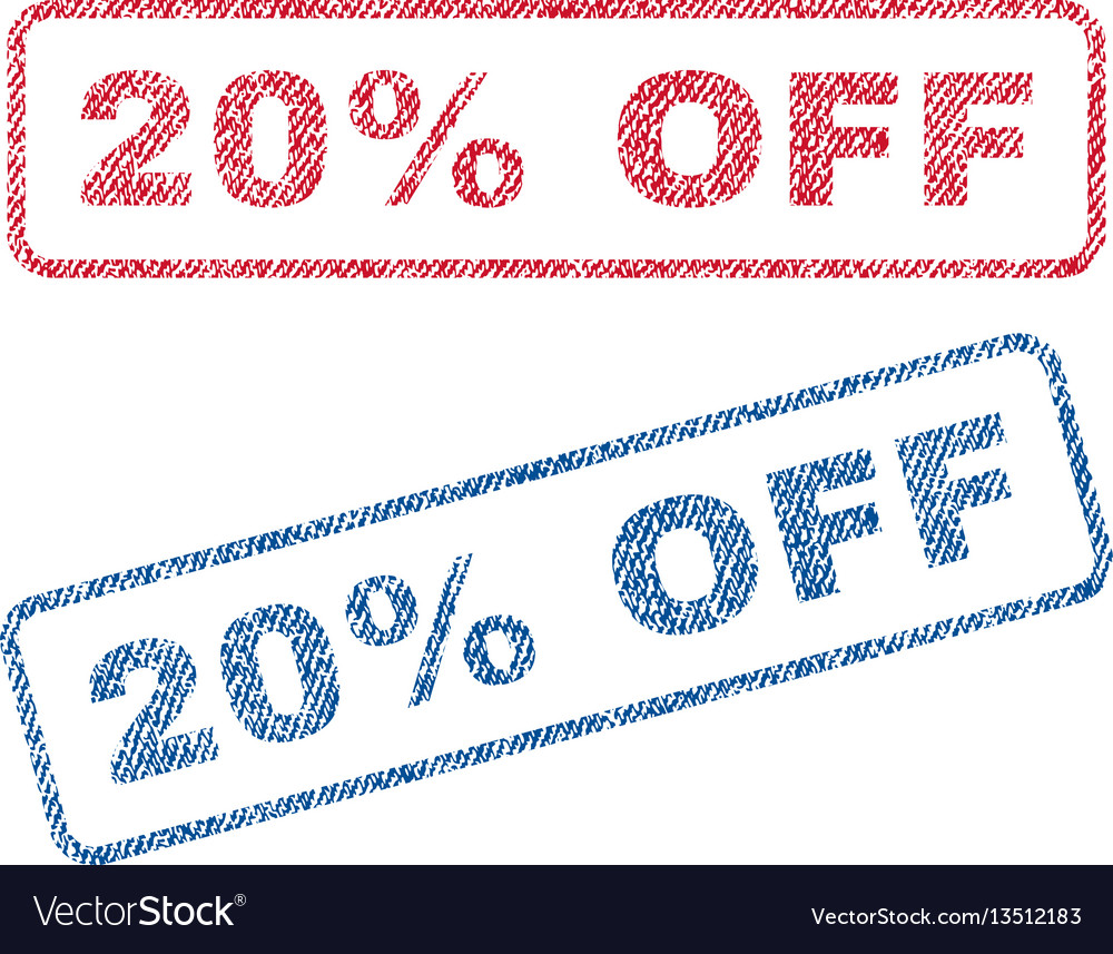 20 percent off textile stamps