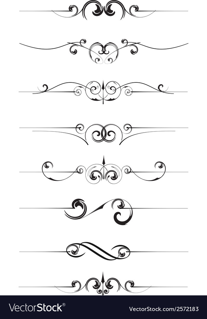 Decorative page rules vector image