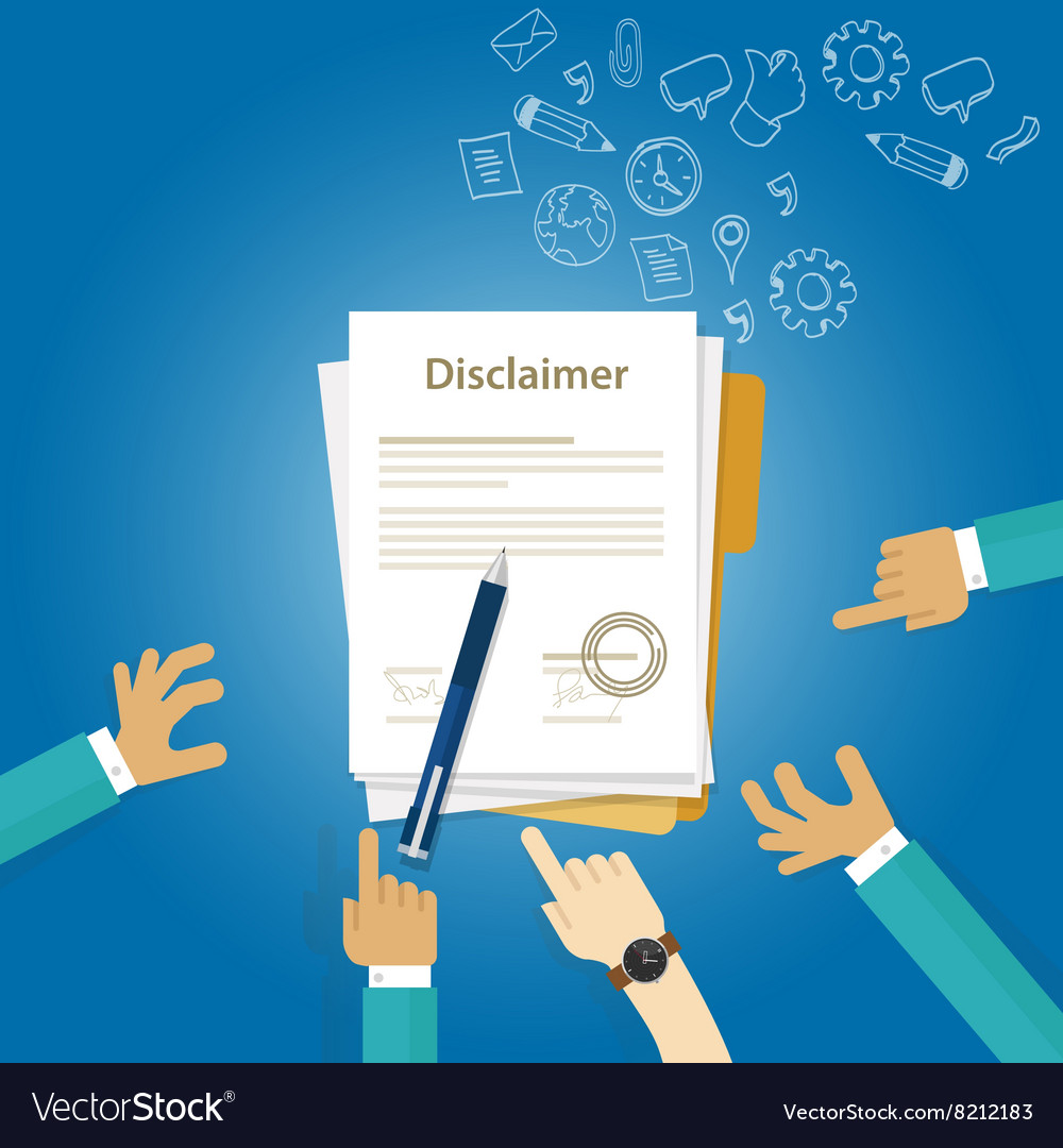 Disclaimer contract document signed