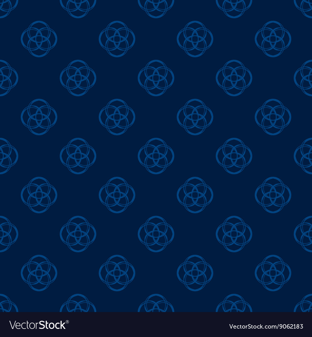 Florish background in blue vector image