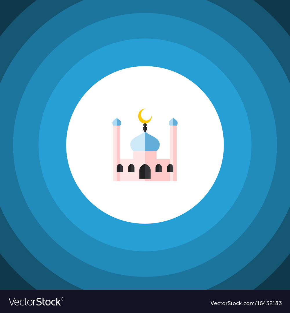 Isolated traditional flat icon muslim vector image