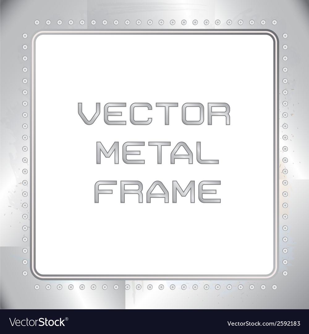 Old riveted metal frame