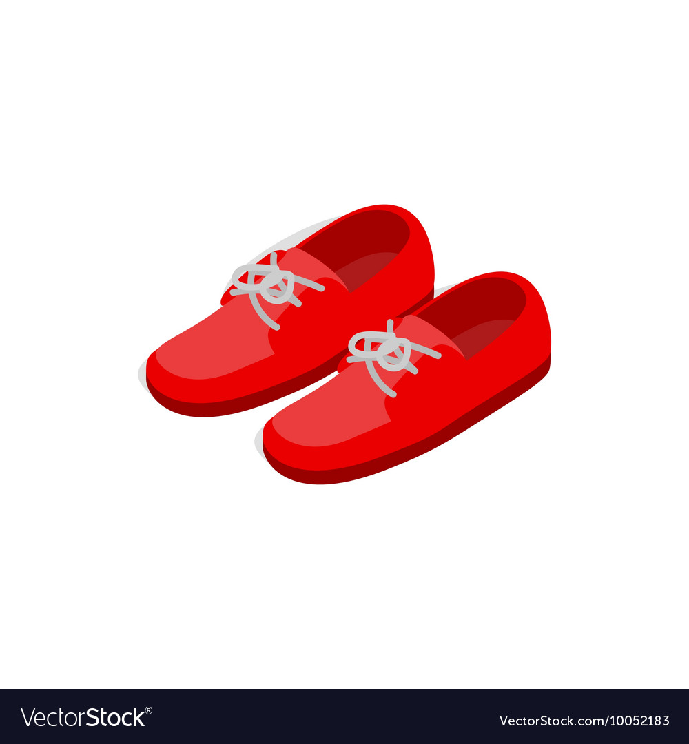 Pair of red shoes icon isometric 3d style