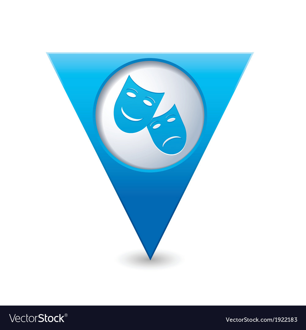 Theater icon pointer blue vector image