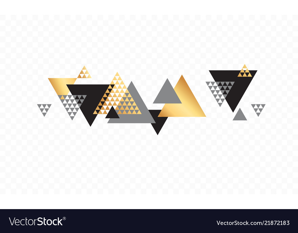Triangle abstract golden background