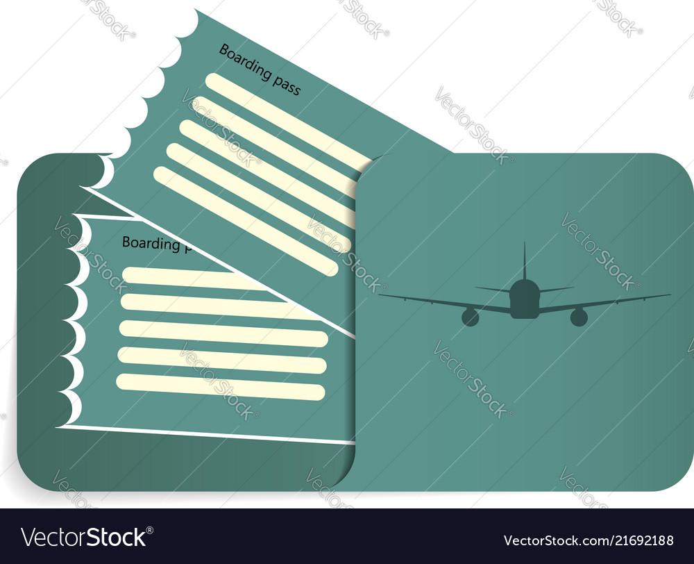 Boarding pass inside of blue envelope
