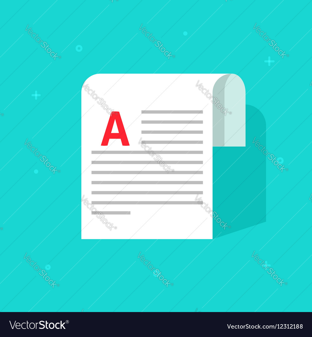 Copywriting document printed media paper sheet vector image
