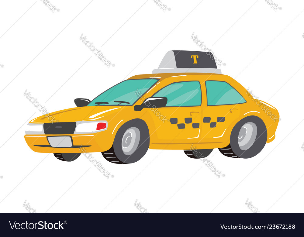 Flat high quality city service car taxi toy taxi