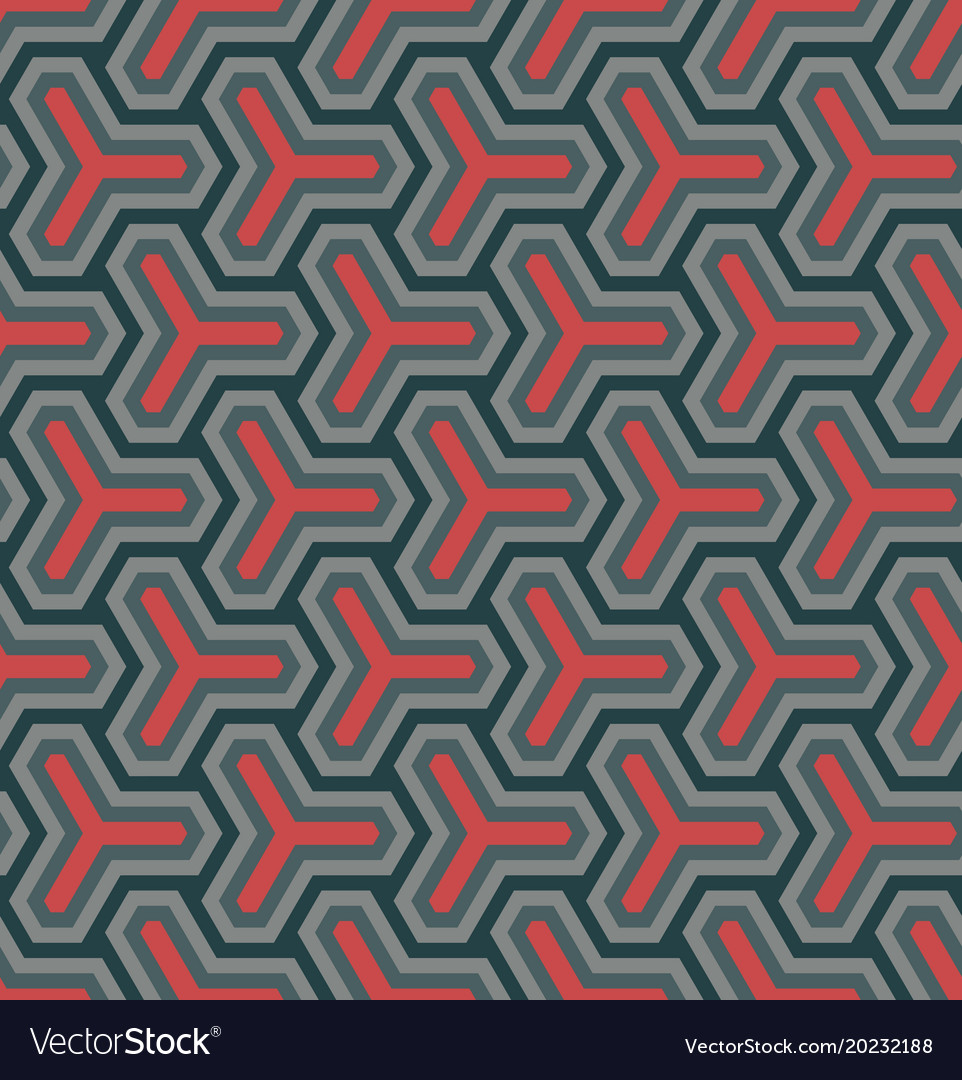 Geometric ornament based on a hexagonal grid