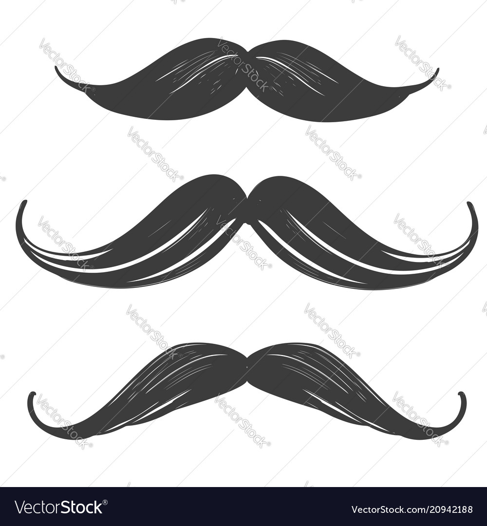 Moustache set manhood humorous mask icon