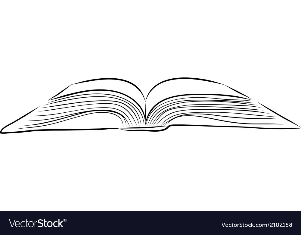 Open Book Cover Drawing : Open book hand draw royalty free vector image vectorstock