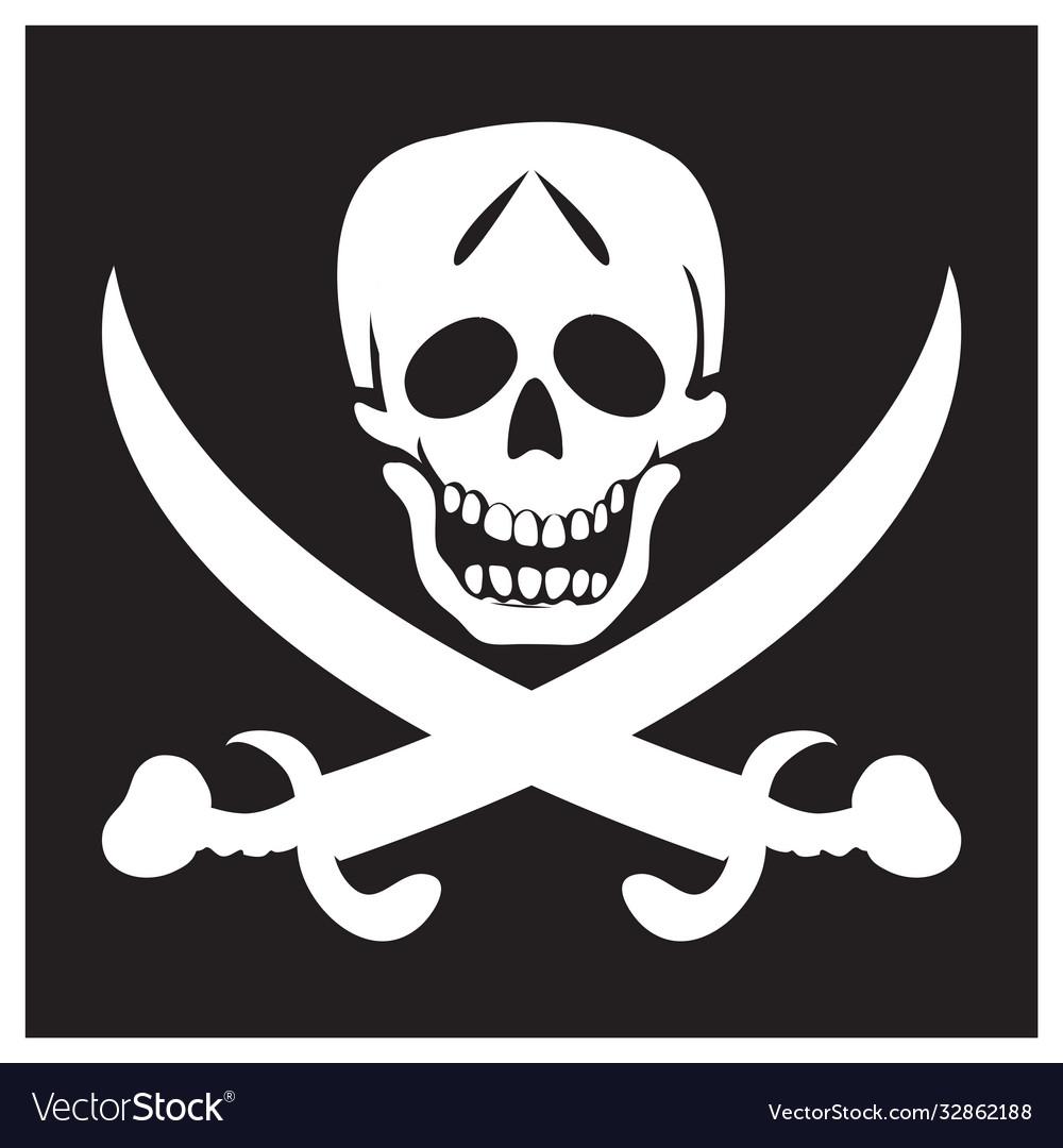 Pirate black background flag