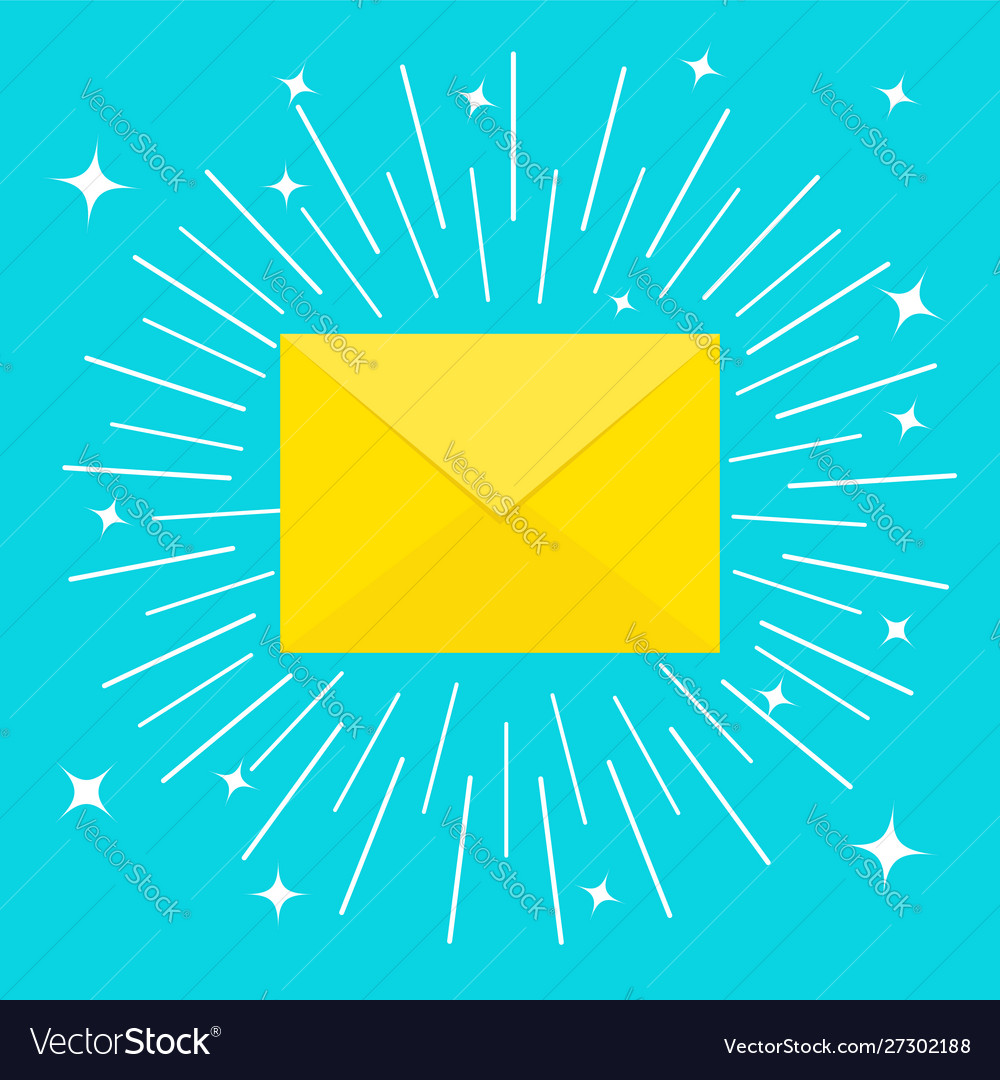 Unread mail notification email icon shining