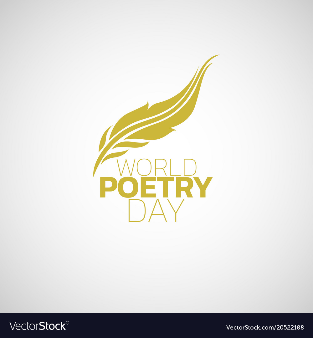 World poetry day logo icon design vector image