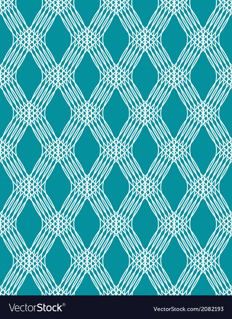 Abstract white line seamless pattern on blue