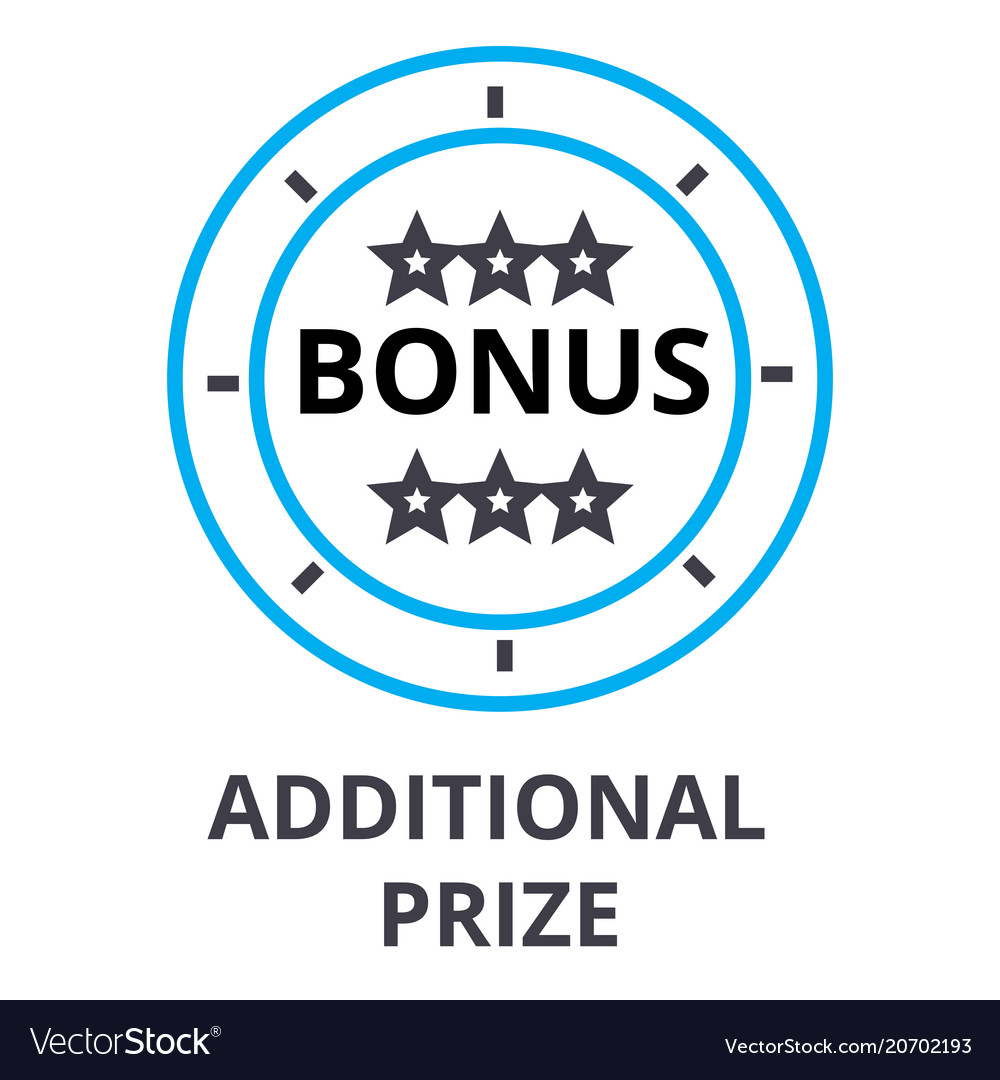 Additional prize thin line icon sign symbol
