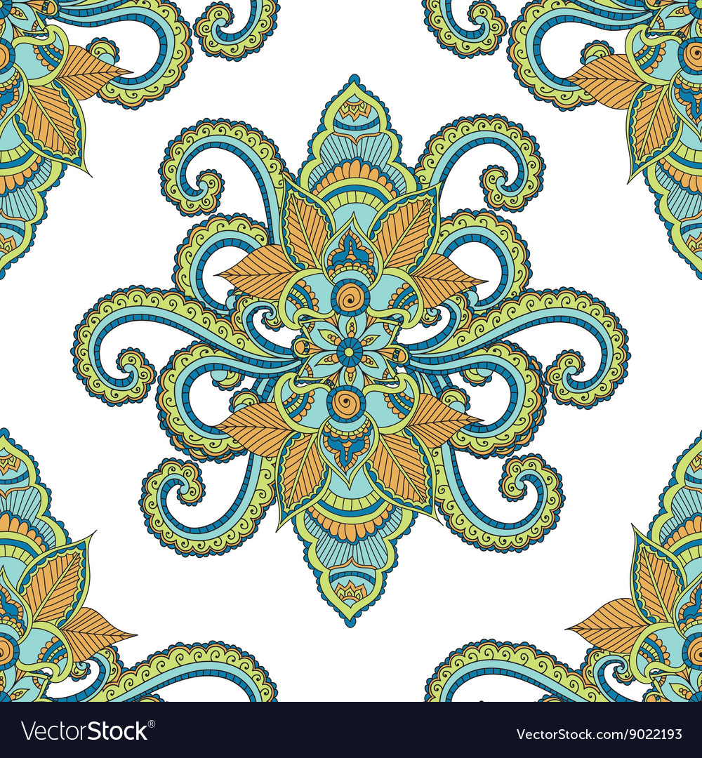 Beautiful seamless Indian floral ornament can be