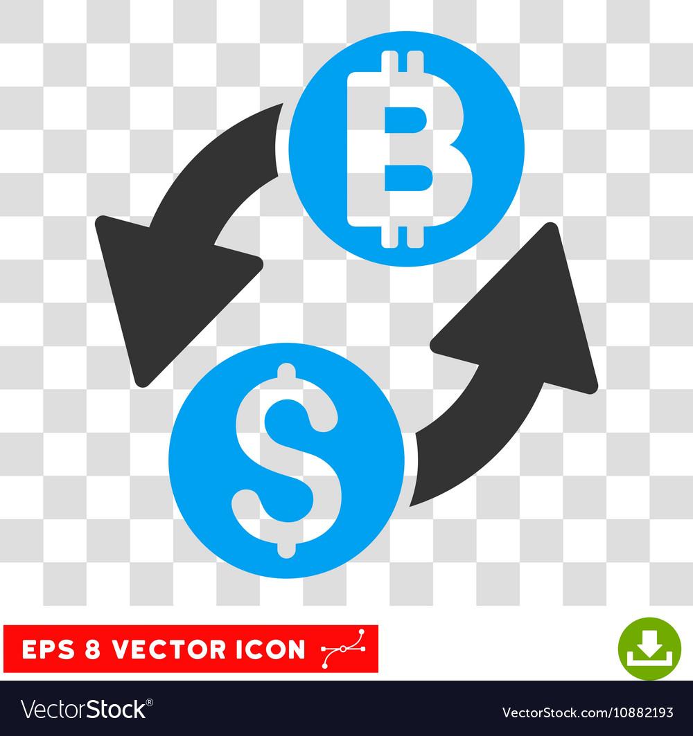 Dollar Bitcoin Exchange Icon Vector Image
