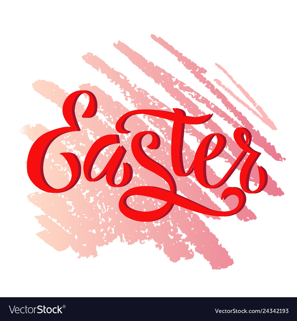 Happy easter colorful paint lettering