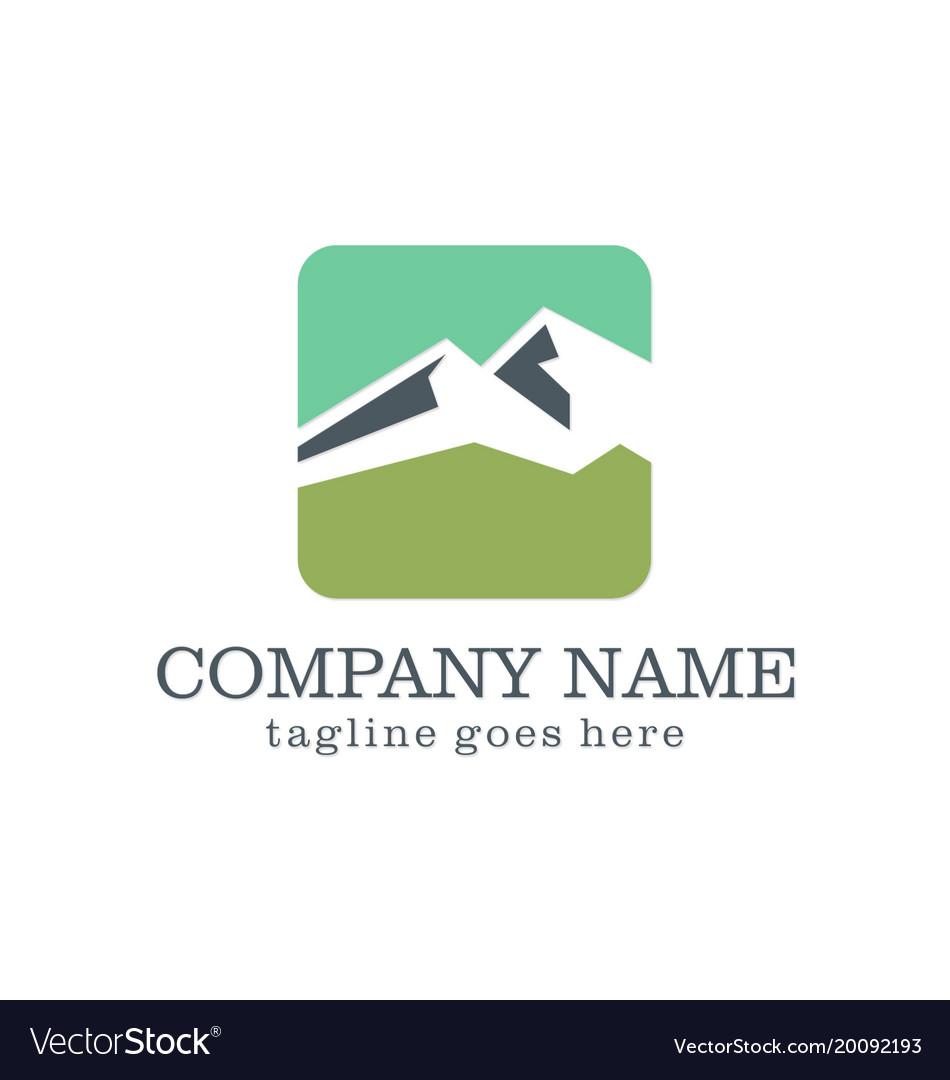 Mountain icon design logo